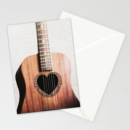 Guitar Heart Stationery Cards