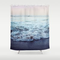 shipping Shower Curtains featuring Crash into Me by Leah Flores