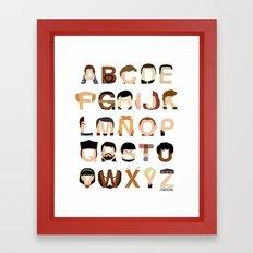 Star Trek Alphabet Framed Art Print