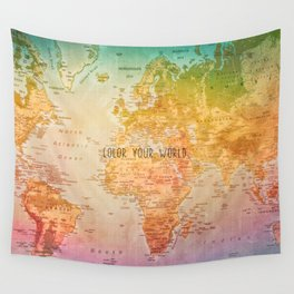 Color your World Wall Tapestry