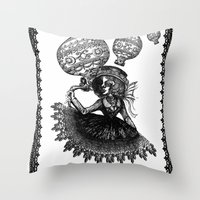 kobe Throw Pillows featuring Love Monochrome by AKIKO