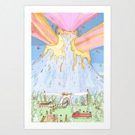The Mountian. Art Print