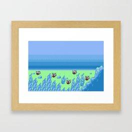 Under the Seas of Johto Framed Art Print