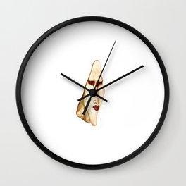 Portrait of a magnificent dark soul Wall Clock
