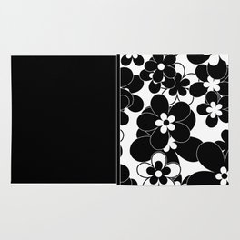 Black , white , mixed , patchwork Rug