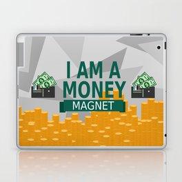 Positive Affirmation I am a money magnet Laptop & iPad Skin