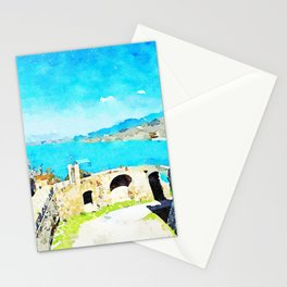 Agropoli: the sea and the Cilento mountains seen from the castle Stationery Cards