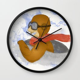 Aviation, the Good Old Days Wall Clock
