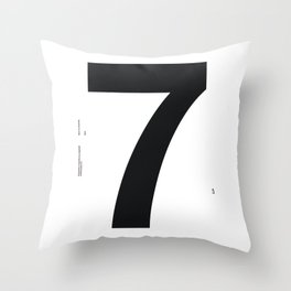 Nº7. Helvetica Posters by empatía® Throw Pillow