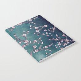 SAKURA LOVE  GRUNGE TEAL Notebook