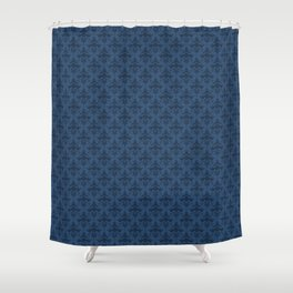 Federal Blue Damask Shower Curtain