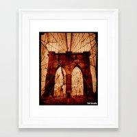 brooklyn bridge Framed Art Prints featuring Brooklyn Bridge by Del Vecchio Art by Aureo Del Vecchio