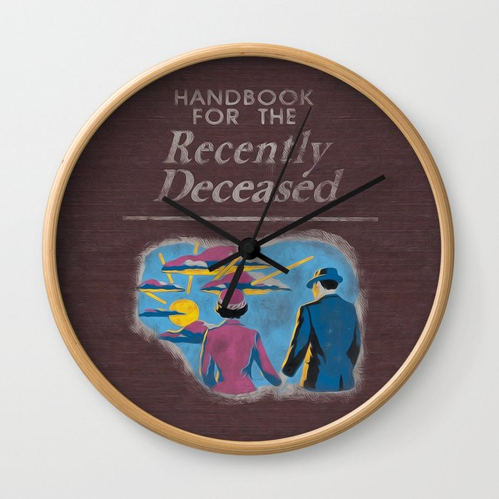 Handbook For The Recently Deceased Wall Clock