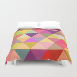 Happy geometry Duvet Cover