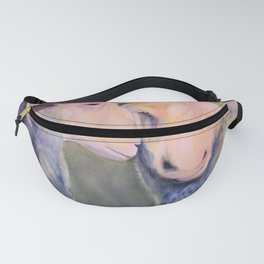 Two Sheep Animal Art Oil Painting Fanny Pack