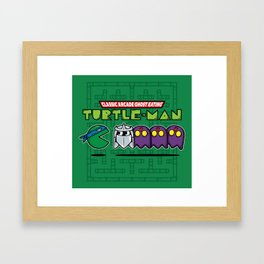 Hero in a Pac-Shell (Leo) Framed Art Print