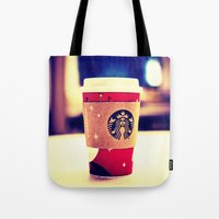 starbucks Tote Bags featuring Starbucks  by Jo Bekah Photography