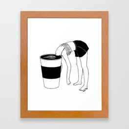 Coffee, First Framed Art Print