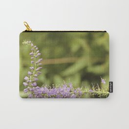 Purple Abstract Flower Vintage Carry-All Pouch