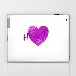 Purple Heart Flower Laptop & iPad Skin
