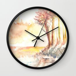 Watercolor Landscape 03 Wall Clock