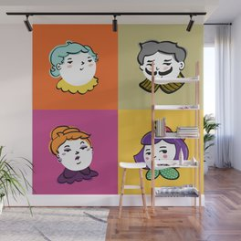 Face Phase Wall Mural