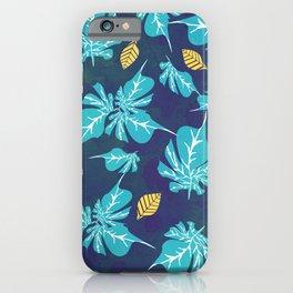 Gold leaf are spreds inbetween Summer Dark Dried-up Leafs iPhone Case