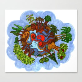 Big world Canvas Print