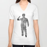 cyclops V-neck T-shirts featuring Cyclops by Shamun
