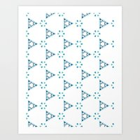 Little blue triangles Art Print