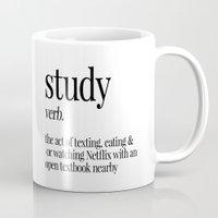 study Mugs featuring Study by Liv B