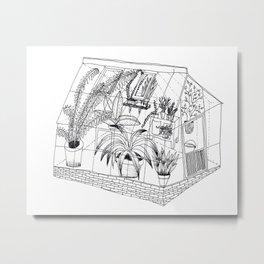 transparent greenhouse Metal Print
