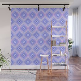 Triple Blue Square Wall Mural