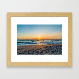 Canaveral National Seashore Sunrise Framed Art Print