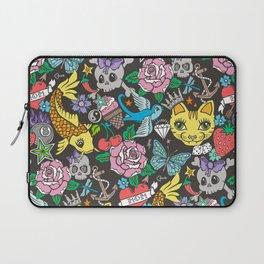 Tattoo Cats,Roses,Strawberry,Skulls Laptop Sleeve