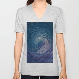 Fall Into Me - Abstract Art by Fluid Nature Unisex V-Neck