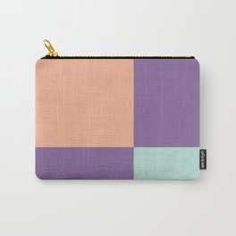 Minimal Abstract Apricot Purple SeaGreen 04 Carry-All Pouch