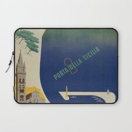 Messina port of Sicily Laptop Sleeve
