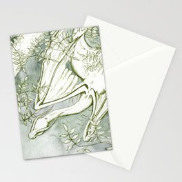 Chaudeleau the Green Marsh Dragon Stationery Cards