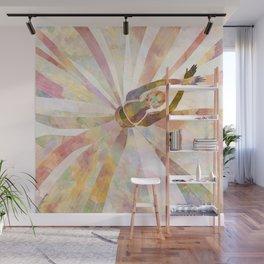 Sleeping Ballerina Floral - Gold Summer Palette Wall Mural