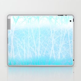 Frosted Winter Branches in Misty Blue Laptop & iPad Skin