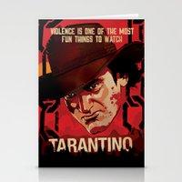 tarantino Stationery Cards featuring TARANTINO Unchained by Jesus De La Mora