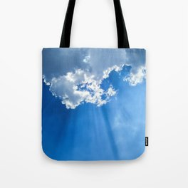 Silver lining cloud Tote Bag