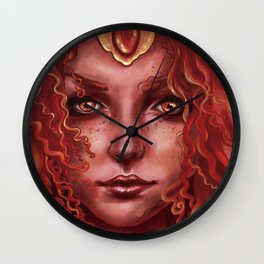 Red queen Wall Clock