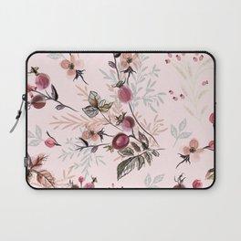 Beautiful vector pink print with wild rose berries Laptop Sleeve