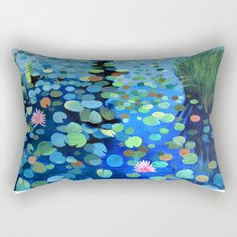 Waterlily Sunset Rectangular Pillow