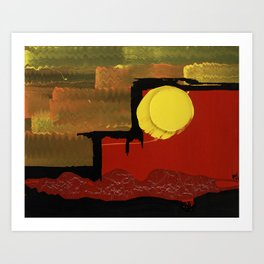 Terraces on the Red Planet Art Print