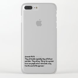 Jeremiah 46:16 Clear iPhone Case