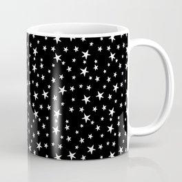 Mini Stars - White on Black Coffee Mug