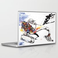 hunter s thompson Laptop & iPad Skins featuring Hunter S Thompson by BINDU by BINDU